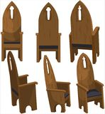 Cathedra Church Chairs royalty free stock photo