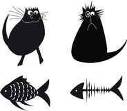 Illustration with cats. Vector illustration of the cats Stock Photos