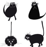 Illustration with cats. Vector illustration of the cat Stock Photos