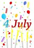 Illustration of celebrating 4th July. Background illustration of celebrating 4th July Stock Image
