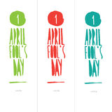 Illustration Celebrating April Fools' Day Royalty Free Stock Photos