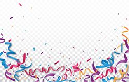 Celebration with Colorful ribbon and confetti Stock Photography