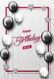 Celebration Happy Birthday Party Banner With Balloons Royalty Free Stock Photos