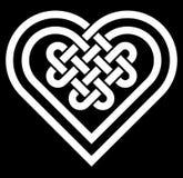 Illustration celtique de vecteur de noeud de forme de coeur Photos stock