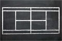 Illustration of Chalk Board with drawing Stock Photography