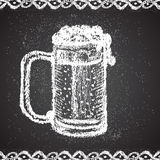 Illustration of chalk painted beer mug with Stock Image