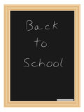 Illustration of a chalkboard. In wooden frame Stock Photography