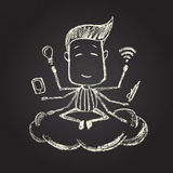 Illustration of chalked character Stock Photos