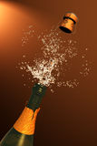 Illustration of Champagne cork ejection Stock Photo