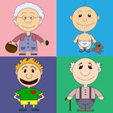 Illustration of characters for the children's book Stock Photo