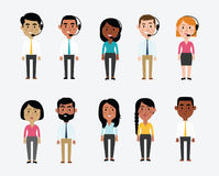 Illustration Of Characters Depicting Office Occupations Royalty Free Stock Photo