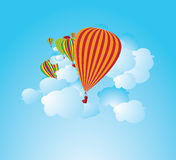 Illustration chaude de ballons à air Photos stock