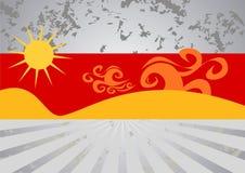 Illustration chaude de plage d'été Photo libre de droits