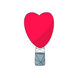 Illustration chaude de vecteur de forme de coeur de ballon à air Illustration de Vecteur