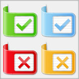 Check and cross symbols Stock Photos