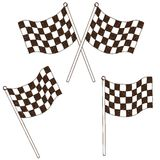 Checkered flag drawing Stock Photography