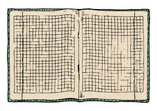 Illustration of  checkered notebook Royalty Free Stock Photo