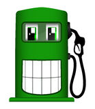 Illustration of cheerful gas pump Stock Photo