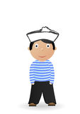 Illustration the cheerful seaman Stock Photos