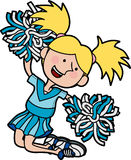 Illustration of cheerleader Stock Photography