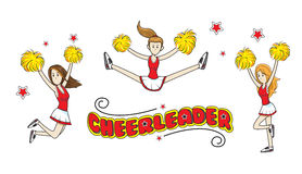 Illustration cheerleader girls team Stock Photo