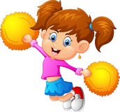 Illustration of a cheerleader Royalty Free Stock Images
