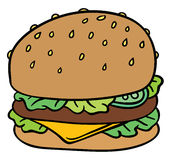illustration  cheeseburger Stock Images
