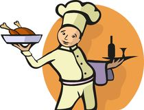 Illustration of a Chef's profession Royalty Free Stock Images