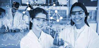 Composite image of illustration of chemical formulas Stock Photography
