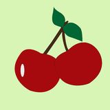Illustration of cherry fruit icon clipart Royalty Free Stock Photo