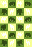 Illustration. Chess board with camels and elephants. Seamless pa Stock Image