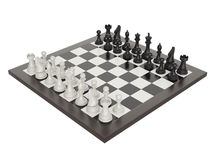 Illustration of chess on chessboard Royalty Free Stock Photo