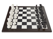 Illustration of chess on chessboard Royalty Free Stock Images