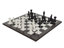 Illustration of chess on chessboard Royalty Free Stock Image