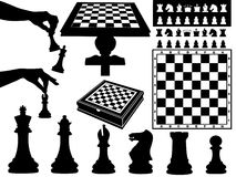 Illustration Of Chess Pieces. Isolated on white Stock Images