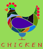 Illustration of chicken Royalty Free Stock Photo