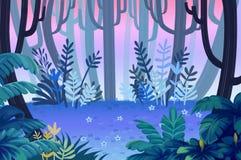 Illustration for Children: Beast Woods. Royalty Free Stock Image
