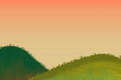 Illustration for Children: Beautiful Little Hills. Royalty Free Stock Image