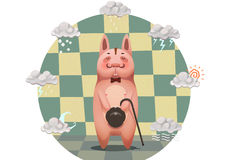 Illustration for Children: The Gentle Man Pig (or Dog). Stock Photography