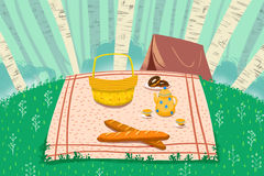 Illustration for Children: A Good Day for Picnic. Stock Photos