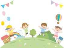 Kids jump2 stock illustration