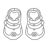 Illustration of children's cute sneakers without shoelace Stock Photography