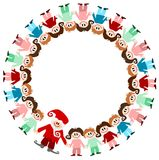 Illustration: children and santa claus Royalty Free Stock Photo