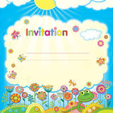 Illustration in a children style Royalty Free Stock Images