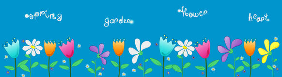 Illustration for children from tge garden flowers Stock Image