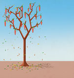 Illustration for Children: The Tree with Carrots Grows. Realistic Fantastic Cartoon Style Artwork / Story / Scene / Wallpaper / Background / Card Design Stock Photos