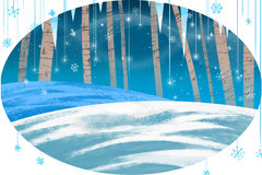 Illustration for Children: Winter Card. Stock Image