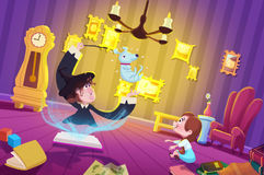 Illustration for Children: The Witch's Room. stock illustration