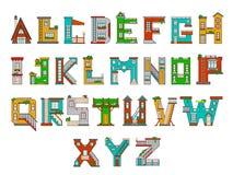 Illustration childrens alphabet. Illustration of children's alphabet. Learning learning letters in kindergarten in kindergarten. Letters Royalty Free Stock Photos