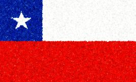 Illustration of a Chilean flag Royalty Free Stock Images